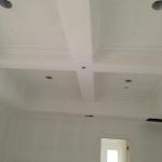 Coffer ceiling in living room